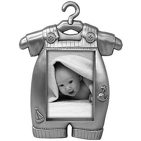 Frame Pewter Baby Finish (Malden International Designs Boy's Outfit Pewter Juvenile Picture Frame, 2x3, Silver)