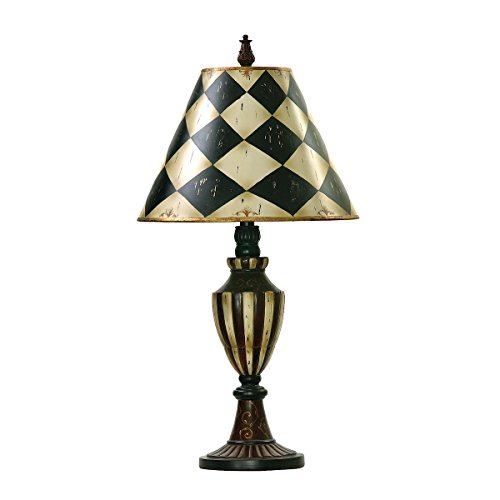 Antique White Shade (Artisitic Lighting Table Lamp, Black, Antique White)