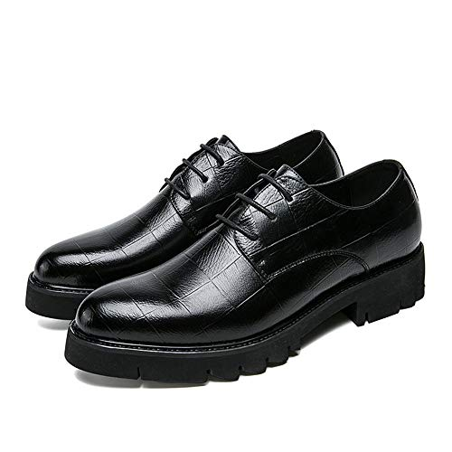Antiskid Outsole Formal Scarpe Moda Fashion da Cricket Shoes Nero Wear Oxford da Uomo 0xOxYI