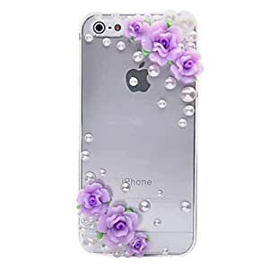 DUR Cozy Flower Pattern Metal Jewelry Back Case for iPhone 5/5S