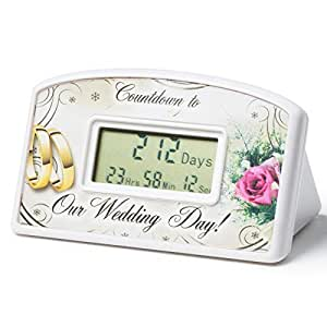 Amazon Com Wedding Countdown Clock Home Amp Kitchen