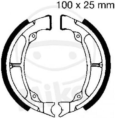 EBC Motorrad // Roller // ATV Bremsbacken 1998 Bremsbelag hinten O FED passend f/ür Hyosung Hyper 125 Bj