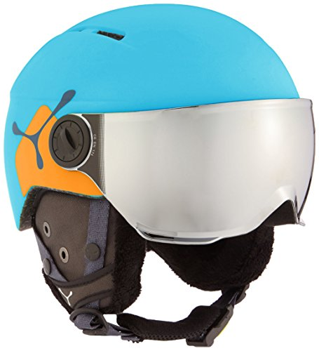 Amazon.com: Cebe Fireball Junior Helmet - Kids Matte Blue/Orange: Sports & Outdoors