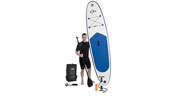 QLife - Kit completo de SUP surf (Paddle Stand Up - Surf de remo) con tabla inflable + bomba + Remo + Leash SUP: Amazon.es: Deportes y aire libre