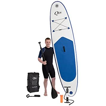 QLife - Kit completo de SUP surf (Paddle Stand Up - Surf de remo) con tabla inflable + bomba + Remo + Leash SUP: Amazon.es: Deportes y aire libre