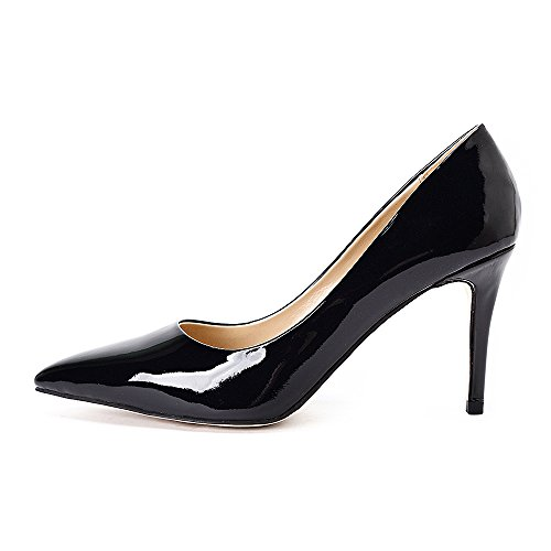 Verni Chaussures Élégant Haut Avec Escarpins Gianni Talon Travail Soir Darco Talon Aiguille Femme Noir Cuir De Fête Pointu qfTBwUHvx