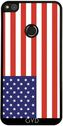 Funda de silicona para Huawei P8 Lite 2017 - Bandera Estadounidense by Tom Hill