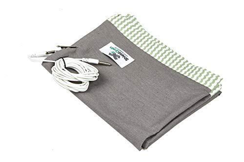 Shieldgreen-Earthing Therapy+EMF,RF Shielding Blanket-Lite, Charcoal Color(Sanitary Stainless Steel fabric25%,35x30inch) + Earthing Clip for Grounding, One Layer