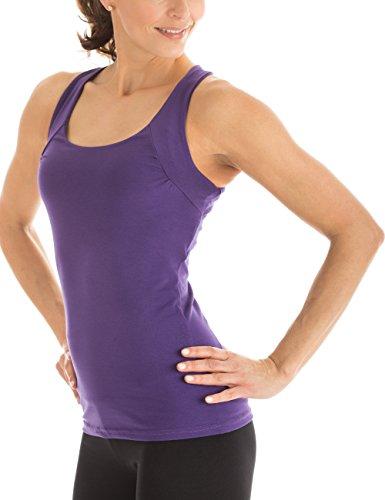Winshape WVR25 Haut à bretelles croisées dans le dos pour femme Coupe étroite Pour loisirs et sport M Violet - dunkel-lila