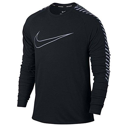 Nike Breathe (City) Men's Long-Sleeve Running Top (Large, Black)