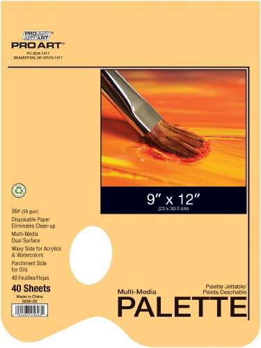Pro Art 9-Inch by 12-Inch Disposable Palette Paper Pad by PRO ART