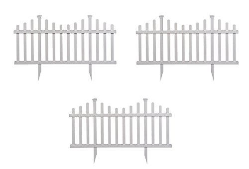 (Zippity Outdoor Products ZP19001 No-Dig Vinyl Picket Unassembled Garden Fence (2 Pack), 30