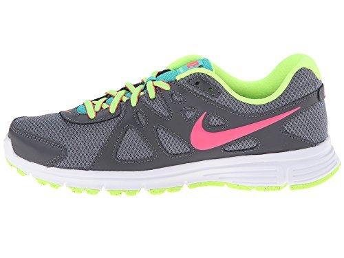Nike Revolution 2 (kall Grå / Mörk Grå / Vit / Hyper Stansen, 11,5 B - Medium) Kvinnor Löparskor