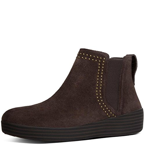 00f9b451ef Galleon - FitFlop Women s Superchelsea Suede Boot W Studs Chocolate 5 M US