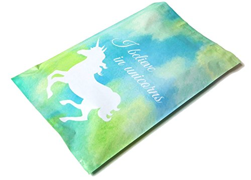 Poly Mailers Unicorn Designer Mailers Custom Boutique Shipping Bags Blue & Green Plastic Shipping Envelopes #SmileMail (100 10x13)