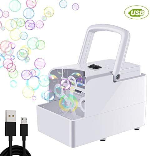 Coxeer 泡機械おもちゃの電気泡の吹くおもちゃ党結婚式のための泡おもちゃ
