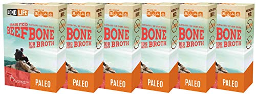 LonoLife Grass-Fed Beef Bone Broth Powder with 10g Protein, Stick Packs, 24 Count