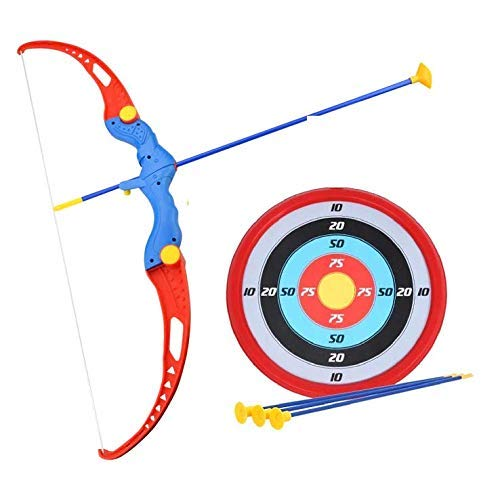 DHARTI ENTERPRISE Kids Archery Bow and Arrow Toy Set with Target Outdoor Garden Fun Game