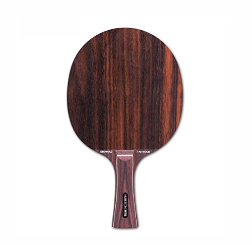 7 Layer Hybrid Rosewood Table Tennis Blade for Pimples In Rubber Fast Loop Ping Pong Bat Paddle (Ebony, long)