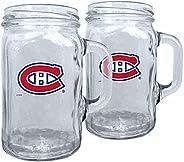 Montreal Canadiens 16oz Glass NHL Mason Mugs Gift Box Set (2-Pack)