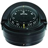 Ritchie S-87 Voyager Compass with Surface Mount and 12V Green Night Light (Black, 3-Inch)