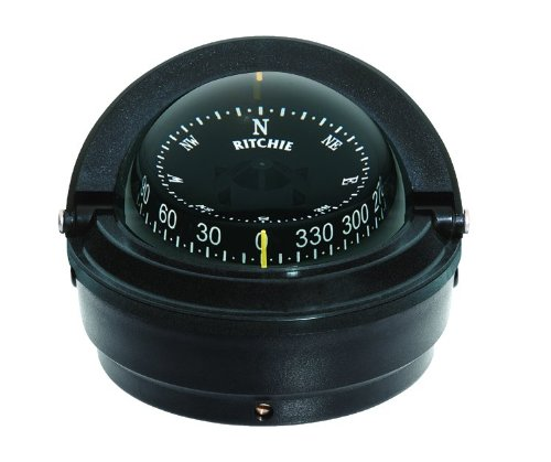 - Ritchie Voyager Compass Dial with Surface Mount and 12V Green Night Light (Black, 3-Inch)