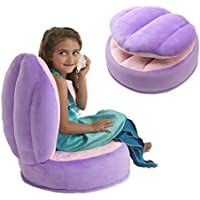 Plush Clamshell Chair