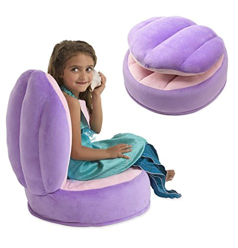 Magic Cabin SYNCHKG097148 Clamshell Plush Chair, Pink