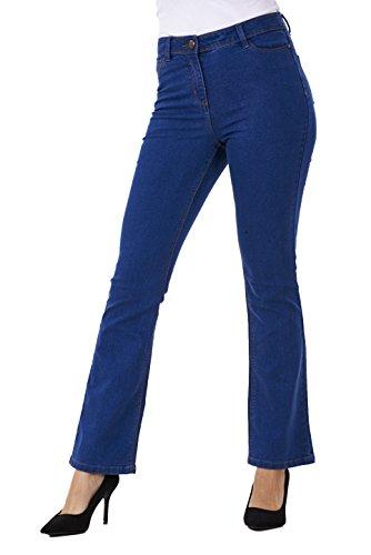 Jean bleu denim jambes vases femme stretch bootcut xUnqgSO