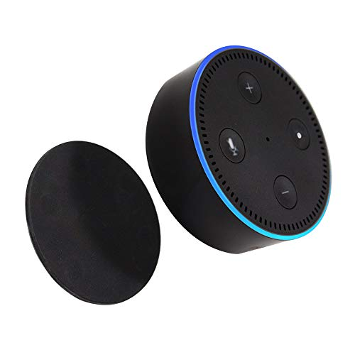 TechMatte Magnetic Mount Pad for use with Amazon Echo Dot [1-Pack Black] (Best Uses For Echo Dot)
