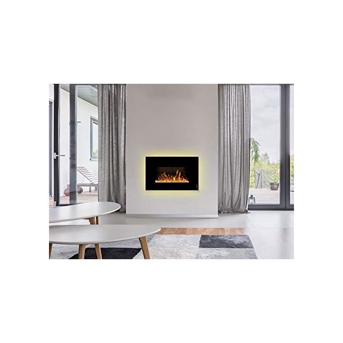 41BLEppk2DL ¿Sin chimenea? No hay problema de ambiente acogedor y agradable calor para cualquier habitación. Consumo de energía de solo 20 W en modo llama gracias a la tecnología LED de bajo consumo. 0,9 kW o 1,7 kW de potencia de calefacción mediante un ventilador de convección conmutable.