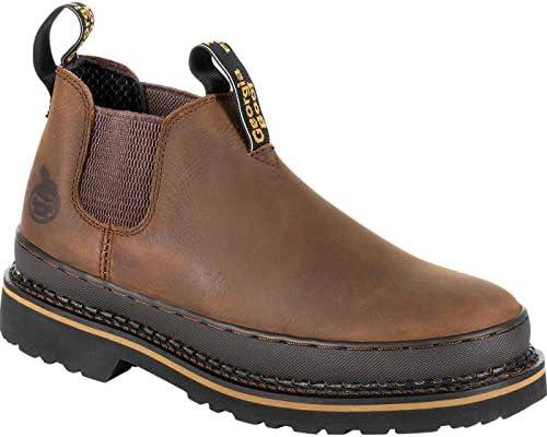 Boot Men's Giant ReVamp Romeo Steel Toe Brown 11.5 EE US