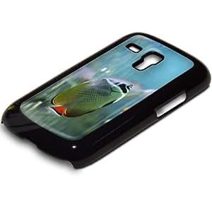 Vida Marina 10041, Custom Negro PC Ultradelgado Caso Duro Carcasa Funda Protección Tapa Hard Case Cover con Diseño Colorido para Samsung S3 i8190 Mini.
