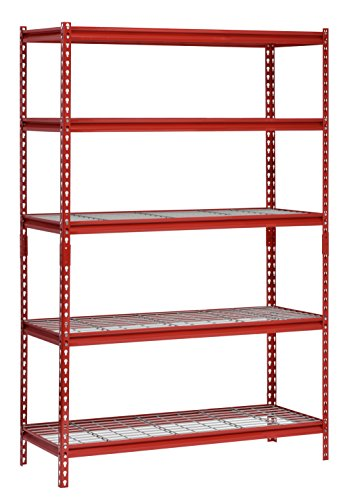 Open Center Production Shelf - Muscle Rack UR482472WD5-R 5-Shelf Steel Shelving Unit, 48