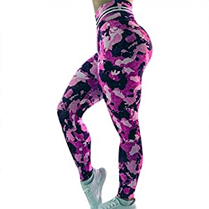 Goosuny High Waisted Leggings for Women Tummy Control Workout Gym Butt Lifting Tights Printed Yoga Pants Compression…