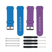 Replacement Silicone Watch Band Strap With 2PCS Pin Removal Tools For Garmin Forerunner 920XT