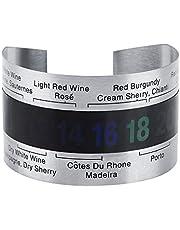 Wine Thermometer,Wine Thermometer,Wine Bottle Thermometer,Stainless Steel Wine LCD Thermometer Bottle Beer,Beer Red Wines Bracelet