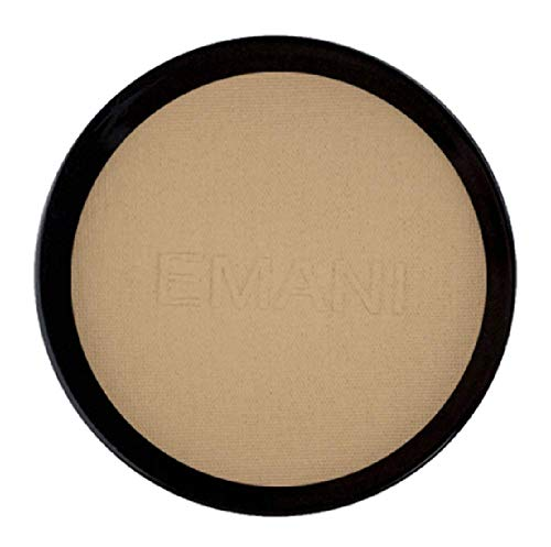 (Emani Vegan Cosmetics Flawless Matte Pressed Powder Foundation - 100% Natural, Organic, Vegan and Gluten Free, Perfect for Combination to Oily Skin, Daily Face Foundation, Setting & Finishing Powder)