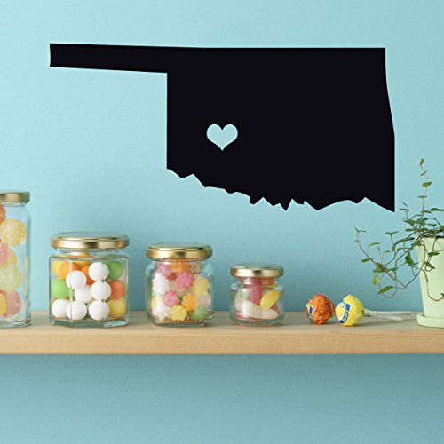 State Decals - Vinyl Wall Art, Midwestern States, 46th State, Oklahoma City Oklahoma, Sooner State