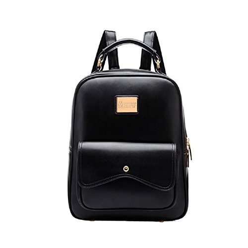 Urmiss(TM) Korean Fashion Leather Women Small Ladies Backpack College Girls School Bag by Urmiss