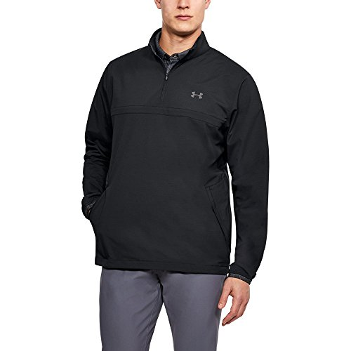 Graphite Golf Shirt - Under Armour Men's Storm Windstrike 1/2 Zip Golf Shirt, XX-Large, Black/Graphite