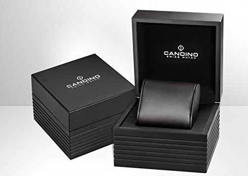 Candino herr datum klassisk kvartsklocka med rostfritt stål armband C4631/2