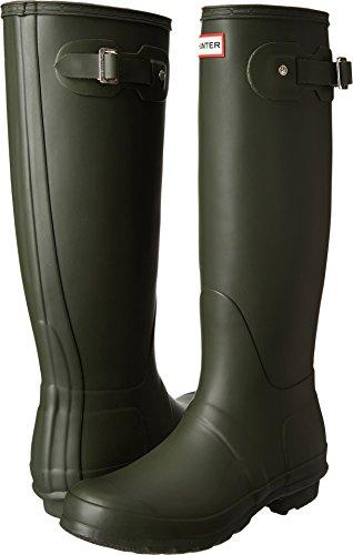 (Hunter Women's Original Tall Dark Olive Rain Boots - 9 B(M) US)