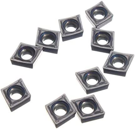 HYY-YY 10pcs CCMT2-1-SM CCMT060204-SM IC907Carbide Inserts for Turning Tool Holder Boring Inserts