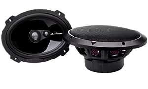Rockford Fosgate T 1693 - Altavoces coaxiales para coche de 200W, negro