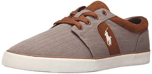 Polo Ralph Lauren Men's Halmore Ii Fashion Sneaker, Dark Khaki, 10 D US