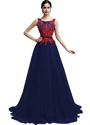 Vimans -  Vestito  - linea ad a - Donna blu navy 46