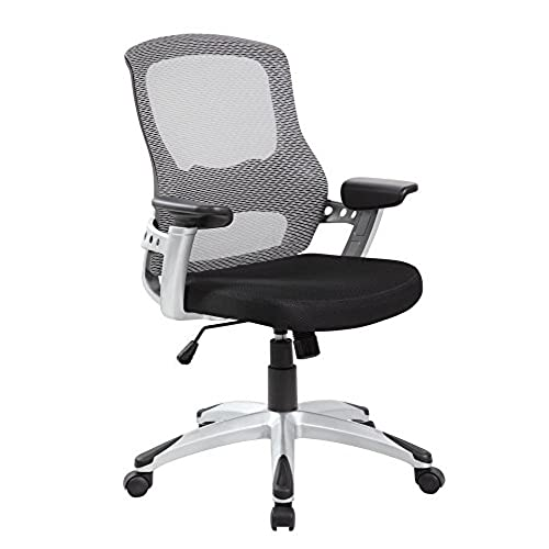 EuroStile Black And White Mid Back Office Computer Task Mesh Chair 8097 Grey