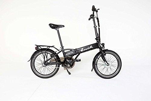 Enik Snap In E-Bike Faltrad Elektrofahrrad Klapprad MIT RÜCKTRITT Fahrrad Schwarz