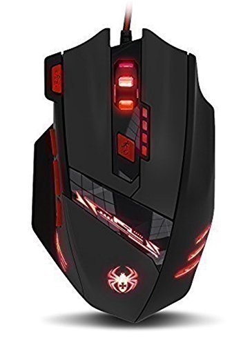 Zelotes Computer Mouse Gaming Mouse Optical PC Mouse Wired USB Connection with 8 Buttons 9200 DPI-Black (The Sims 3 Games List For Pc)